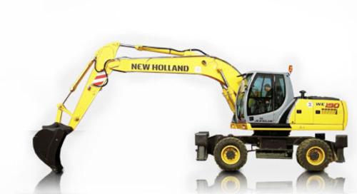 Product picture New Holland WE190, WE210 - WE210 Industrial, WE230 - WE230 Industrial Wheeled Excavators Service Repair Manual Download